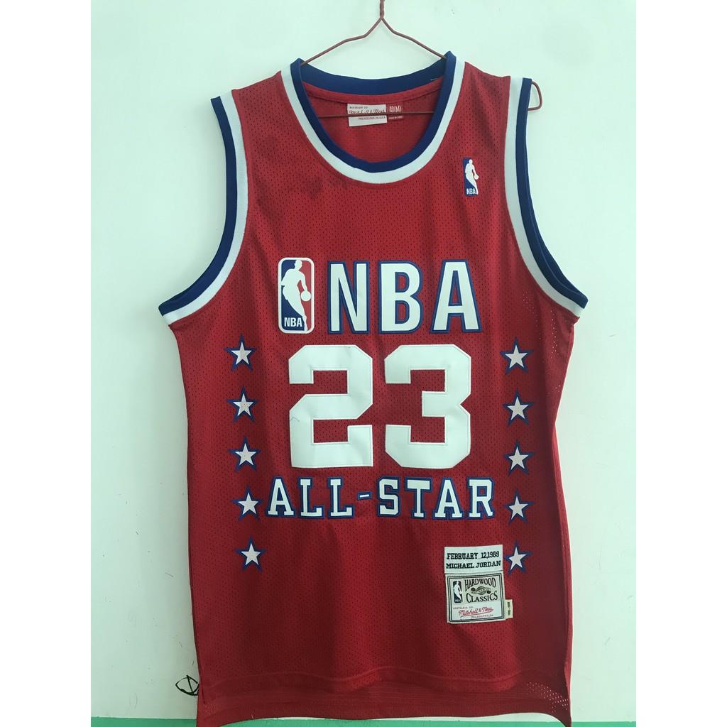 brand new 6d5b9 e0f12 NBA Bulls 1989 All-Star 23 Jordan Red Jersey