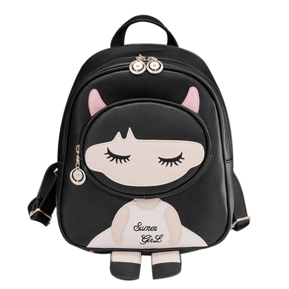 ab0b90fcab94 Women Fashion Cute PU Leather Girls Casual Mini Backpack