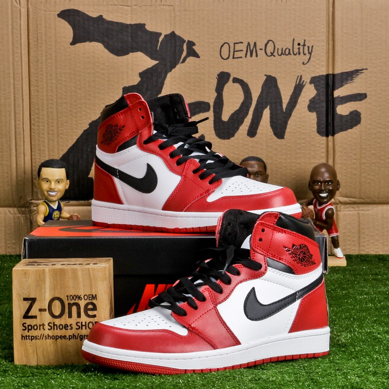 Pickering prima Cadena  Nike AIR JORDAN 1 RETRO Basketball shoes FOR MEN Red/White | Shopee  Philippines