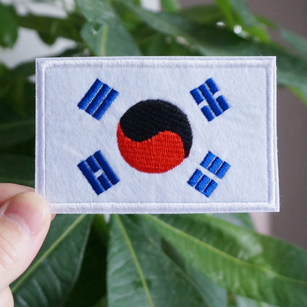 Flag Philippines National Iron on Applique Patch Embroidered