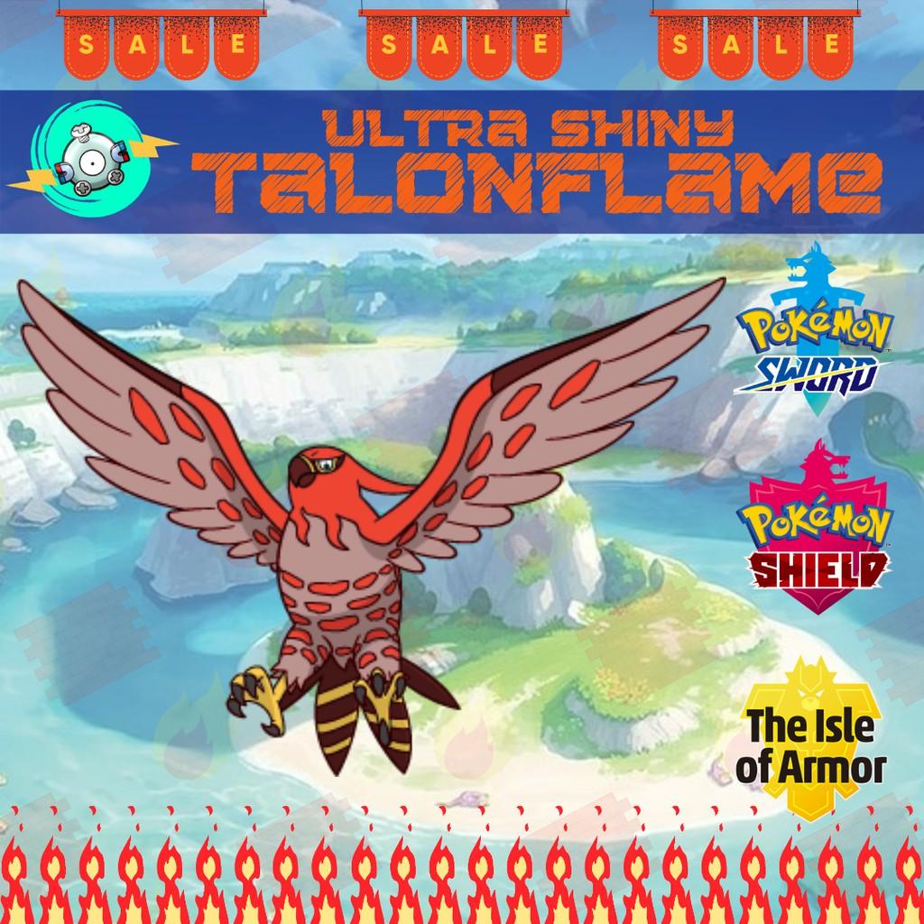 Square Shiny 6IV Ultra Shiny Talonflame Pokemon Sword and Shield