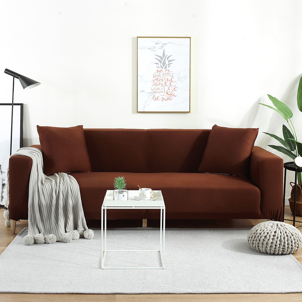 Solid Color One Piece Sofa Cover Modern