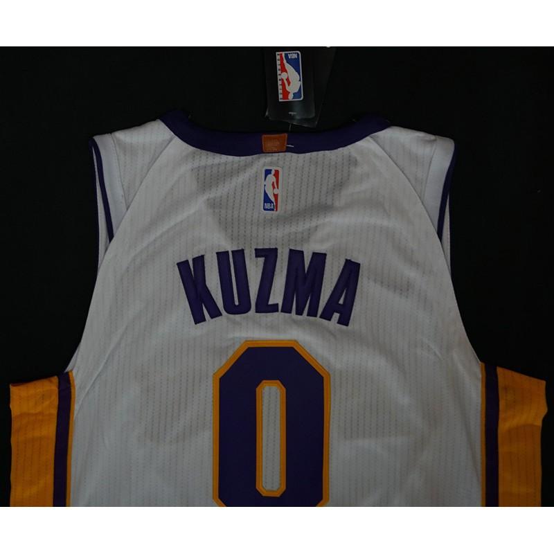finest selection e0336 8e789 2018 Original Nike NBA Los Angeles Lakers Kyle Kuzma #0 whit