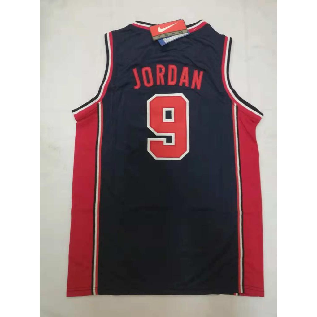 najnowszy projekt sportowa odzież sportowa Nowa kolekcja NBA Retro USA 9 Michael Jordan Basketball Jersey
