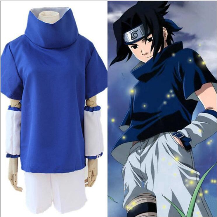 Anime Cafiona Naruto Uchiha Sasuke Cosplay Costume Outfits