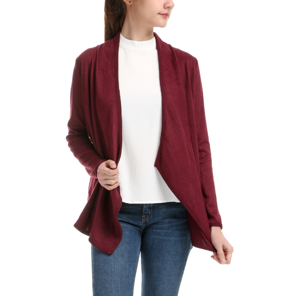 LADIES SOFT QUALITY MULTIBLU OPEN JUMPER CARDIGAN WITH 2 FRONT POCKETS