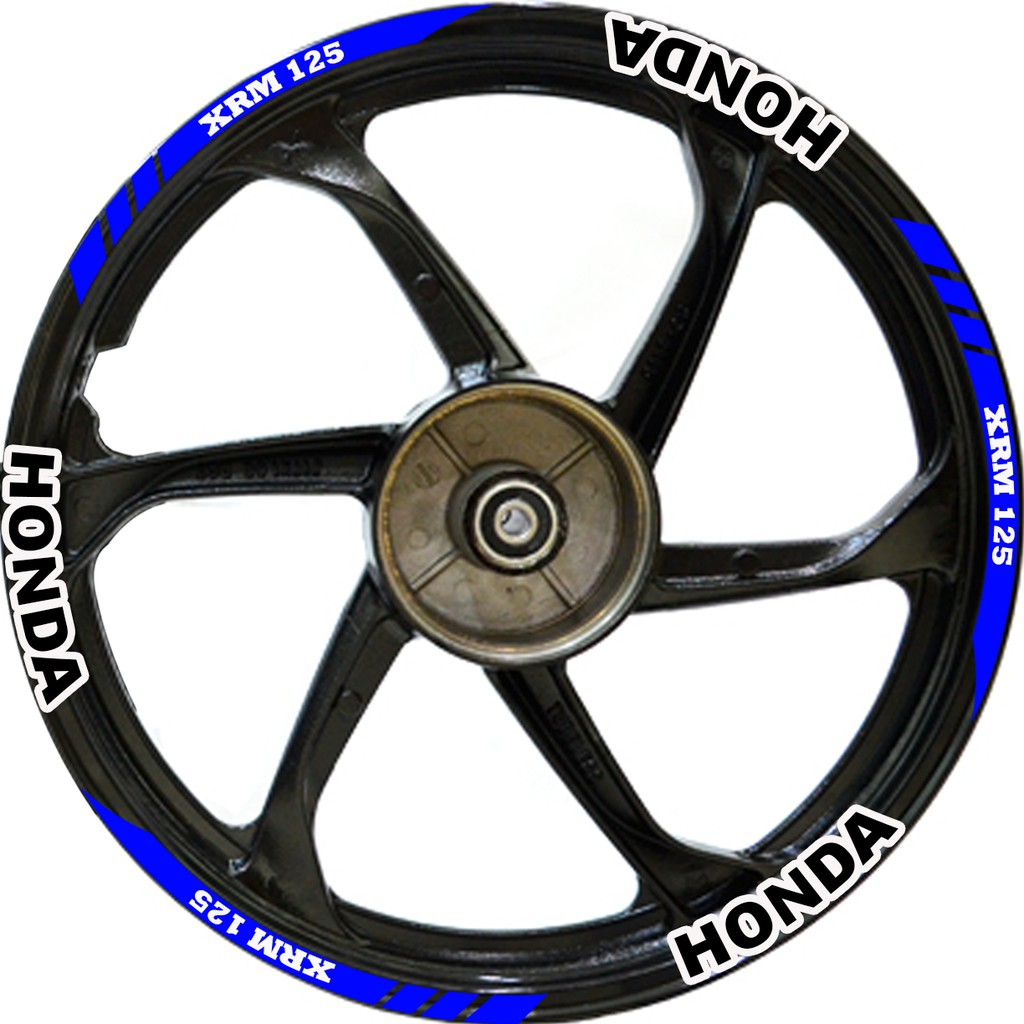 Honda xrm 125 mag rim decals sticker pair wheelsdew shopee philippines