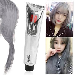 vivi】100ML Pro Light Grey Hair Color Natural Hair Dye Cream Dyeing ...