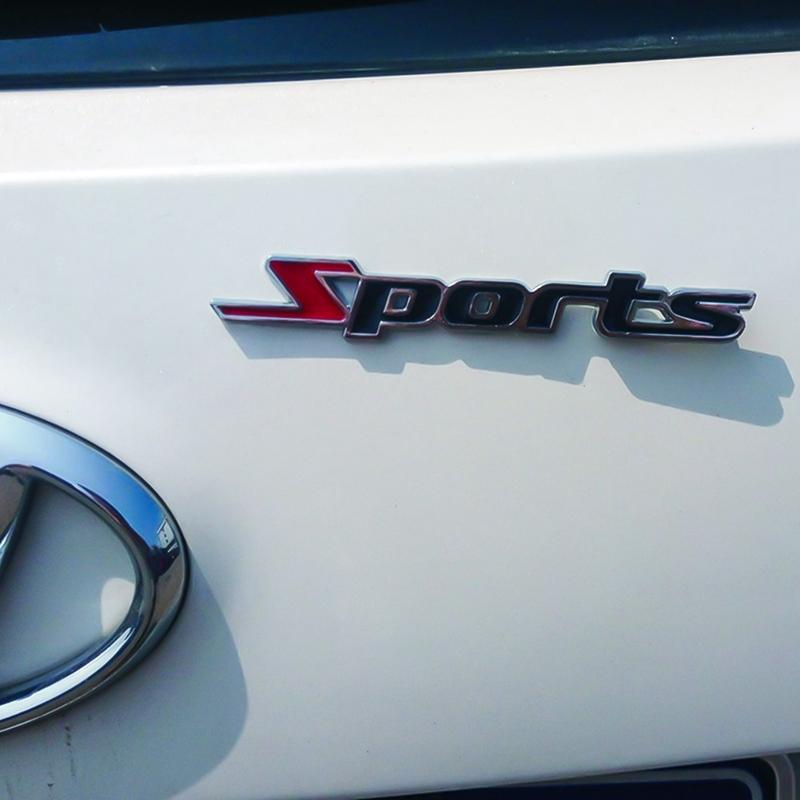 1pc Sports Emblem Badge Chrome Metal Car Sticker Logo 3D Decal Decol Word letter