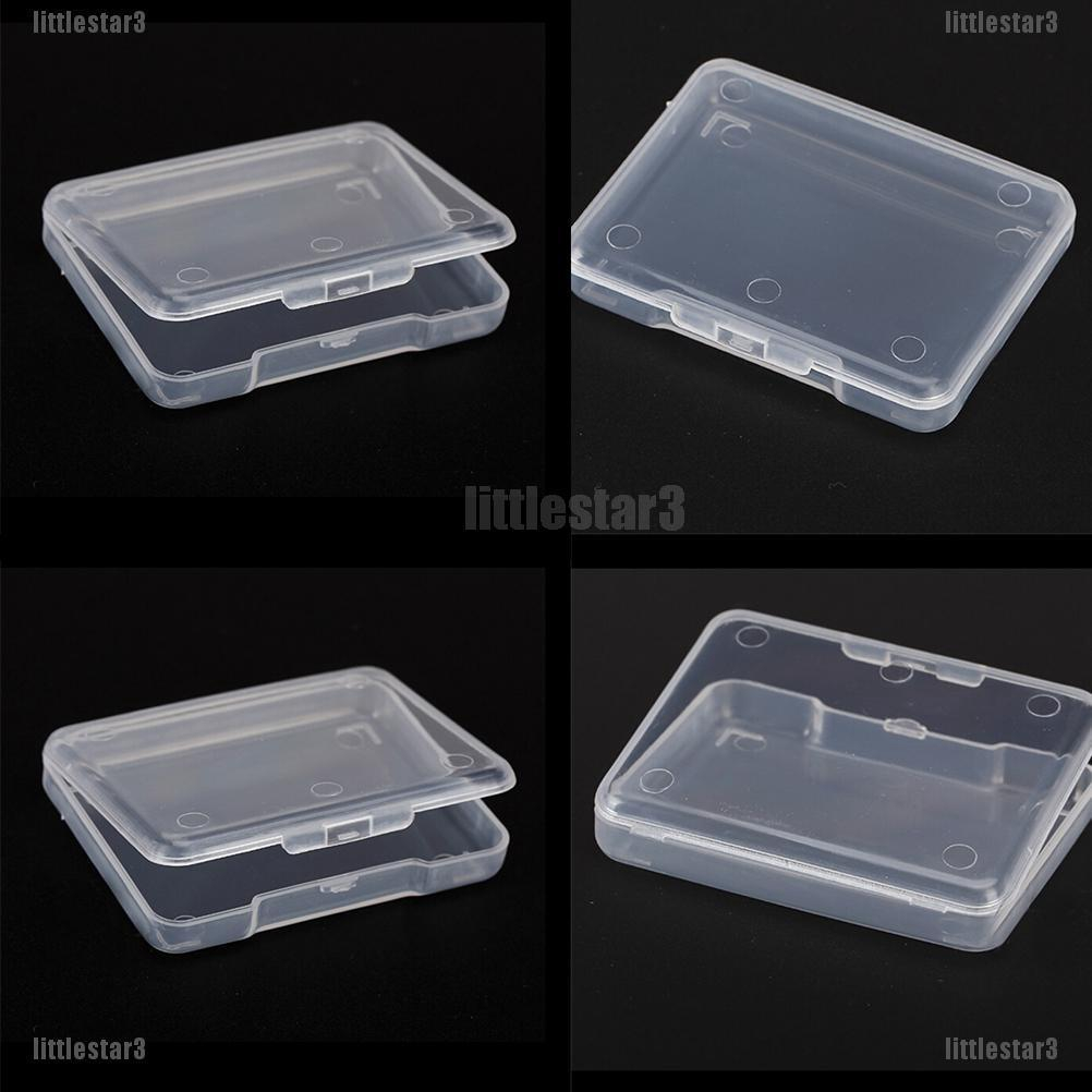 Rectangular Plastic Clear Storage Box Jewelry Tool Container Case Organizer NH