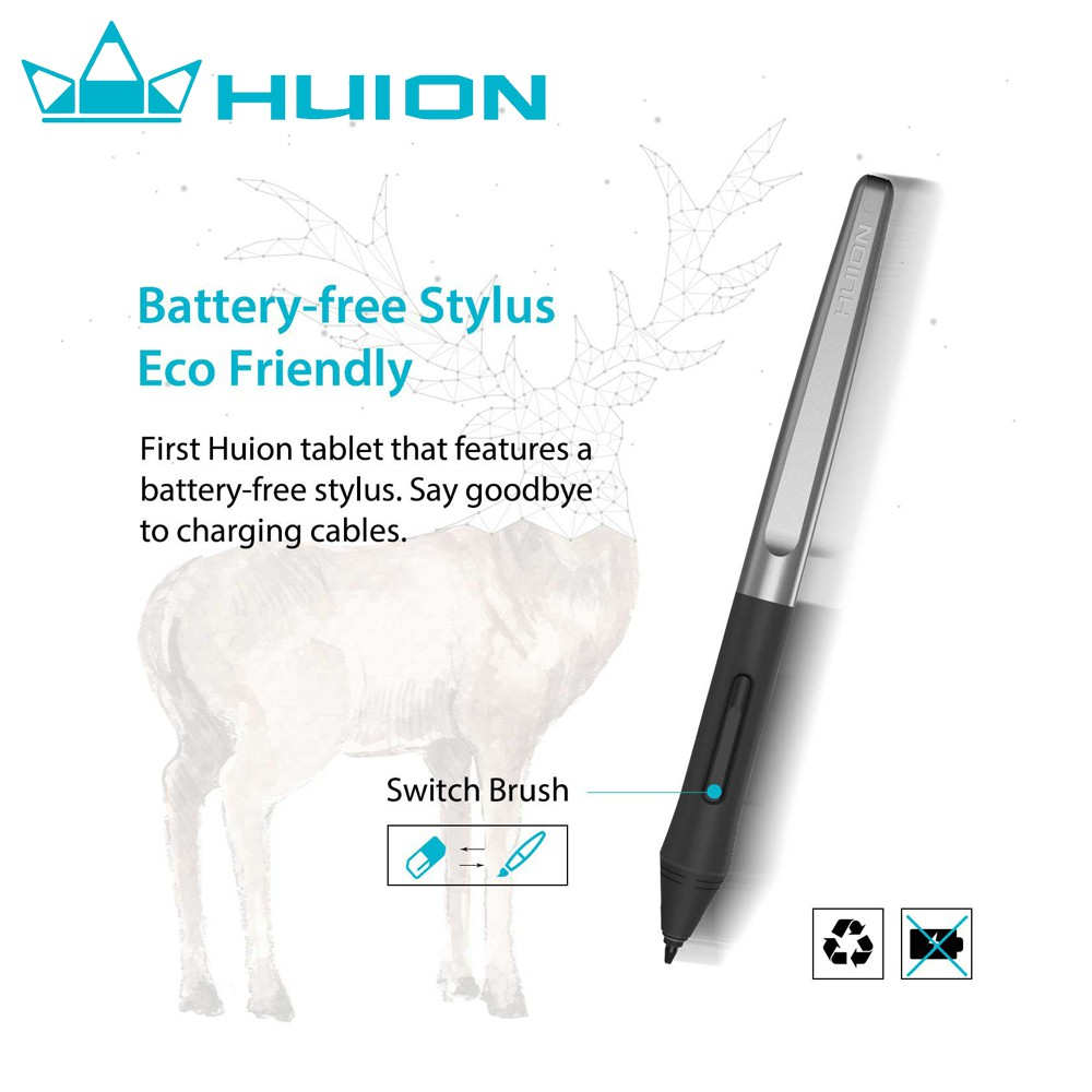Huion Inspiroy H640P Battery-free Pen Tablet | Shopee