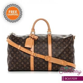 bd6c58cb05d Louis Vuitton Keepall 55 Monogram Canvas Bandouliere Bag