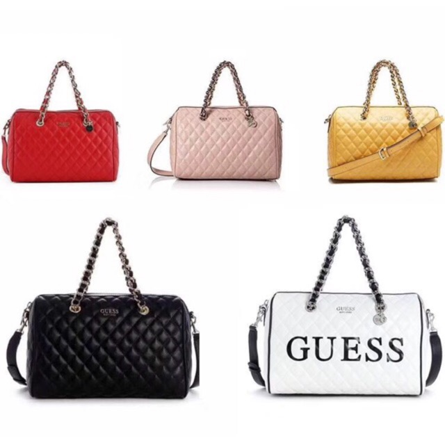 limited guantity terrific value factory outlet Guess sweet candy quilted shoulder bag