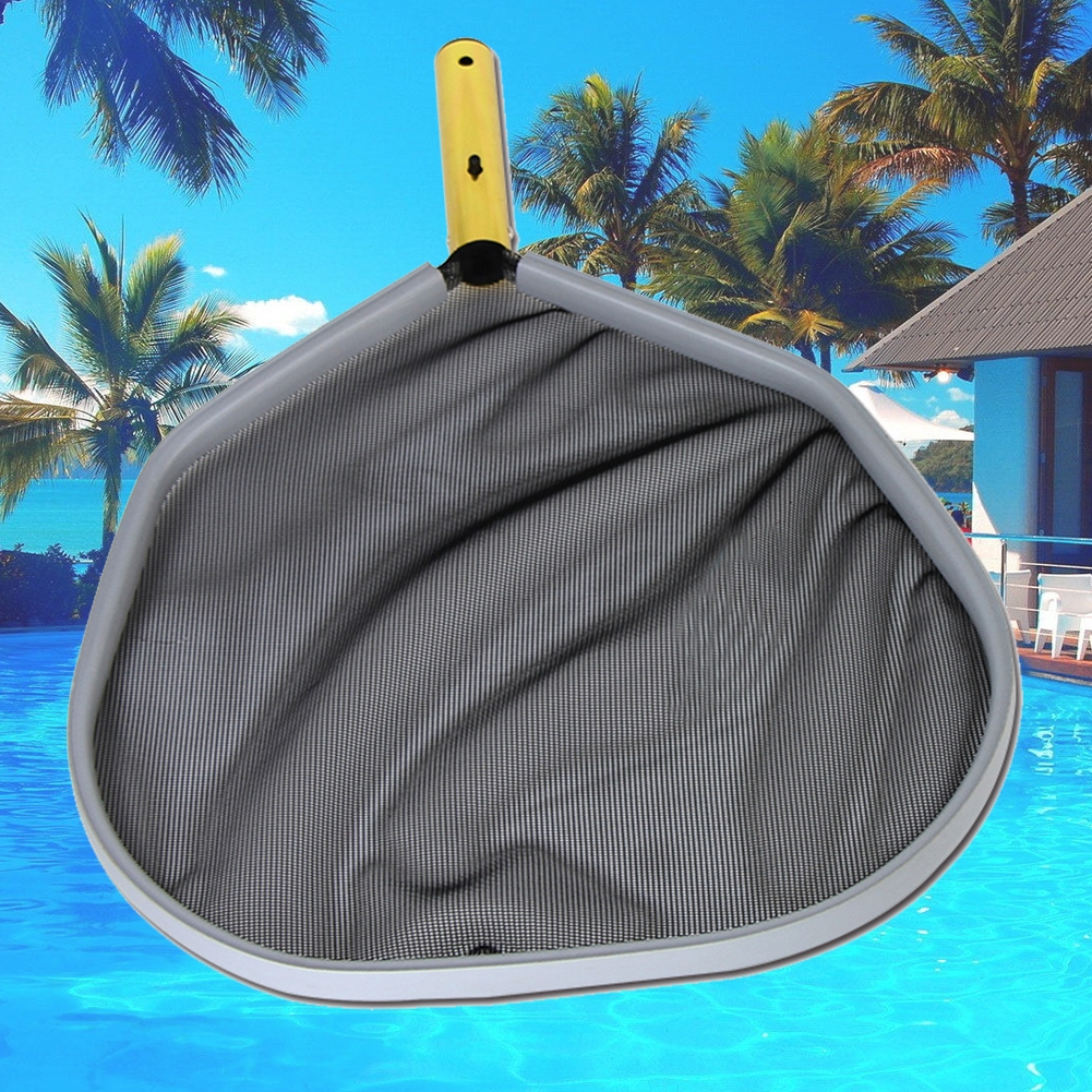 Portable Aluminum Frame Black Fine Mesh Professional Heavy Duty Leaf Rake  Swimming Pool Cleaning Net