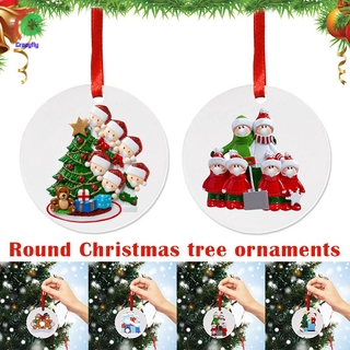 Christmas Ornaments 2020 Quarantine Personalized Ornament Survived Family Customized Christmas Tree Ornaments Holiday Decorations Creative Xmas Gifts Halloween decoration 1pc with 5 Santa Claus