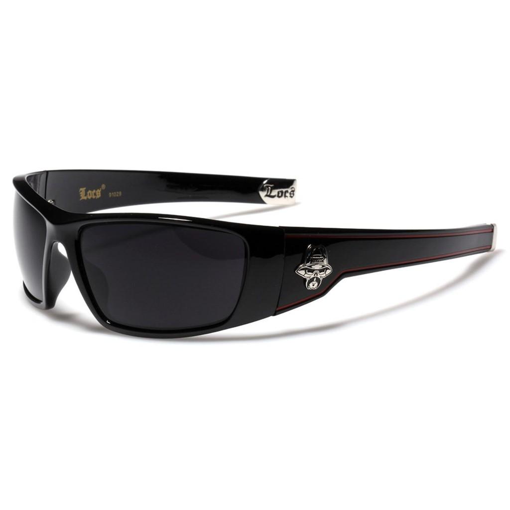 f4401d49dc2 Large OG Locs Dark Lens Sunglasses - Black   Red