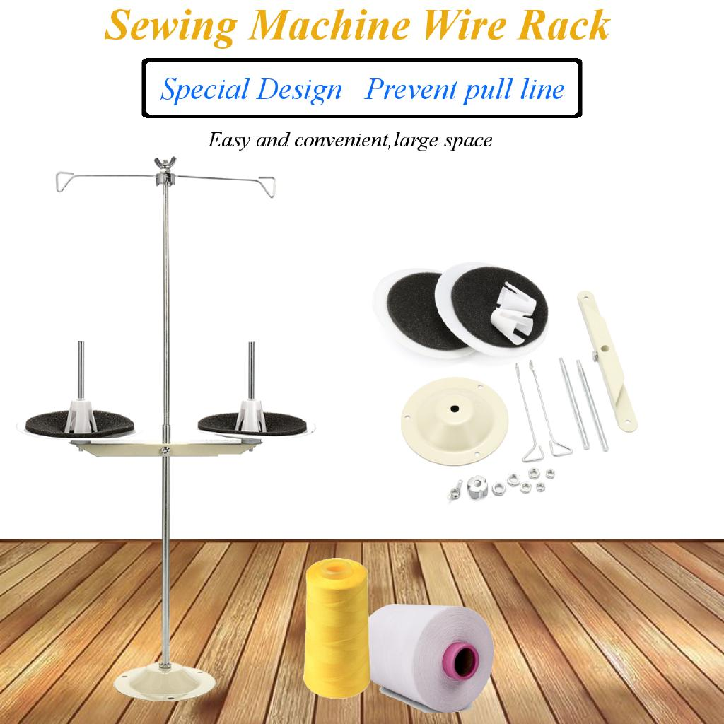 ALL METAL 2 SPOOL THREAD STAND SEWING MACHINE PART INDUSTRIAL