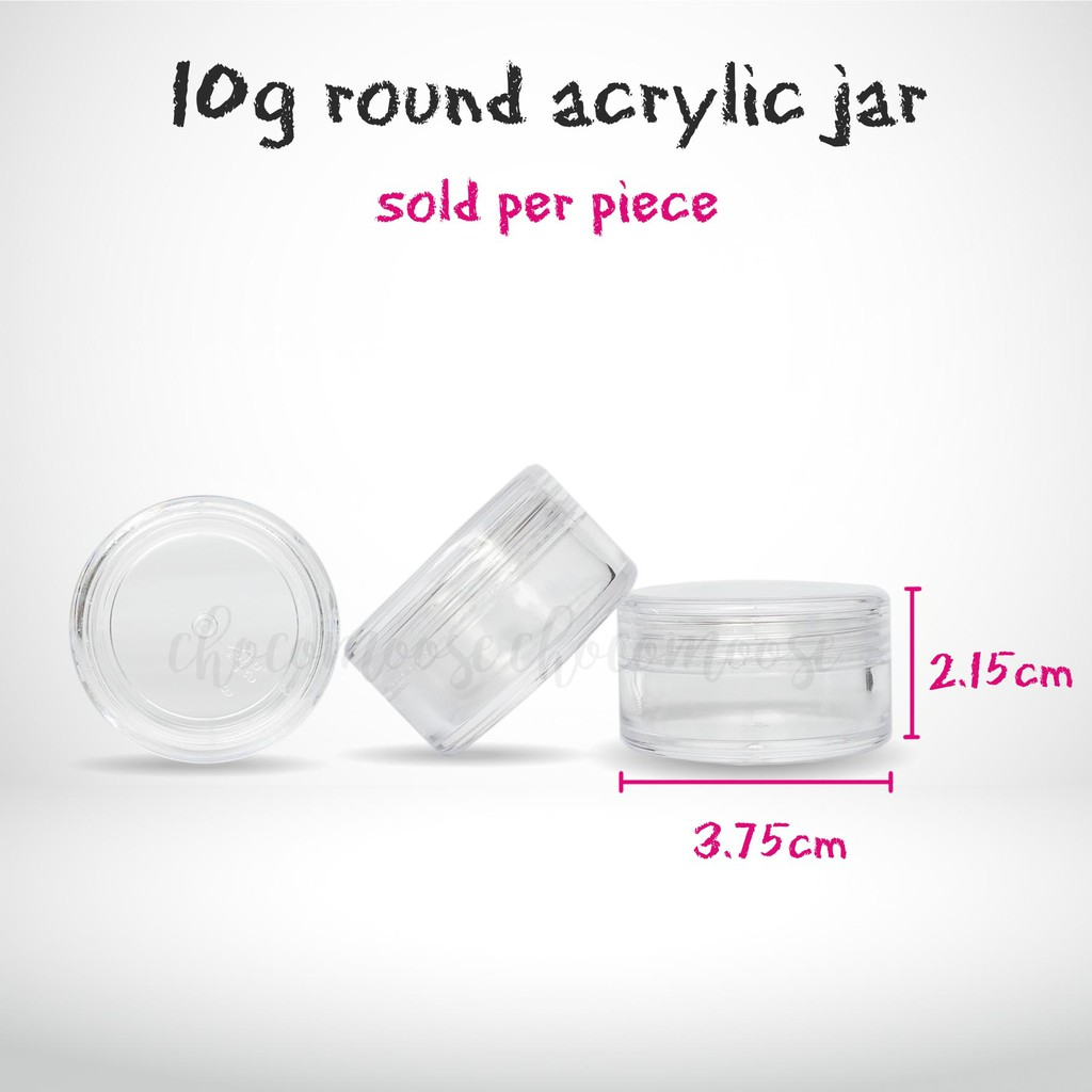 10g round acrylic jar empty container