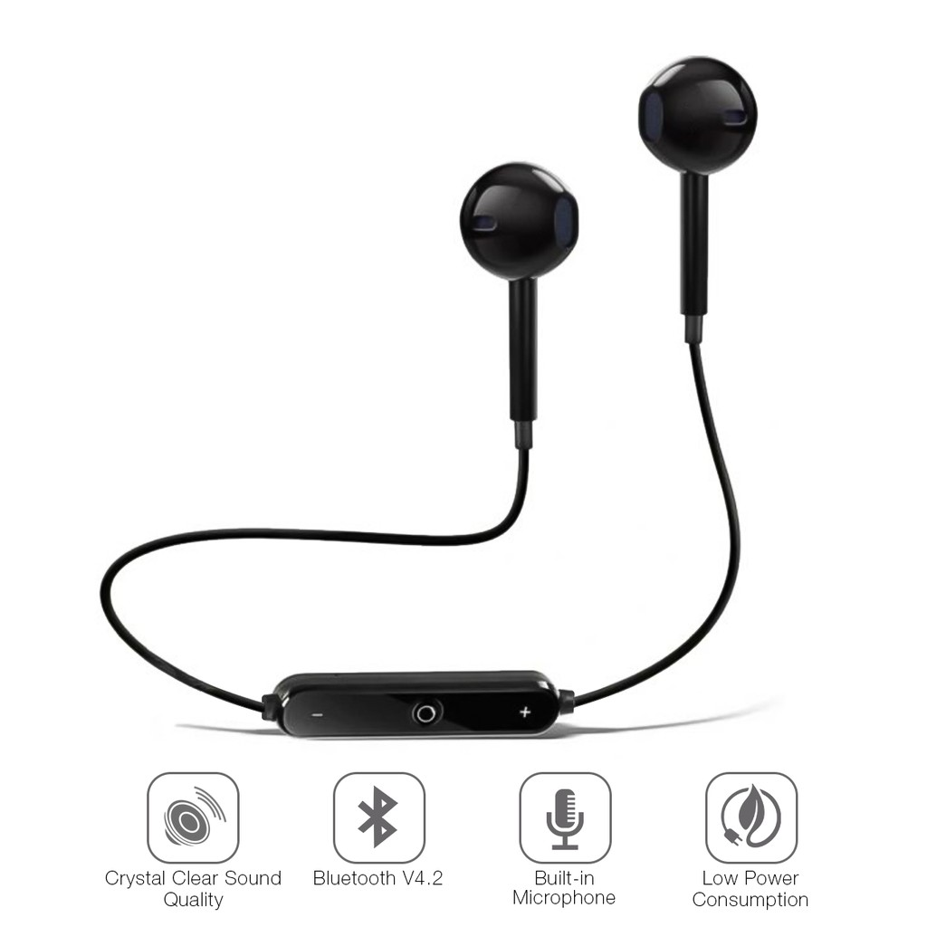 81f1409e4710cd S6 Wireless Headphones Bluetooth 4.1 Earbuds with Mic | Shopee Philippines