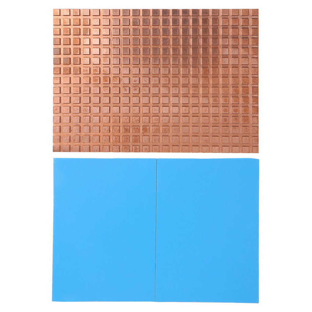 Ultra Thin Pure Copper Heat Sink Back Memory RAM Sink Cooling For MOS IC Chip