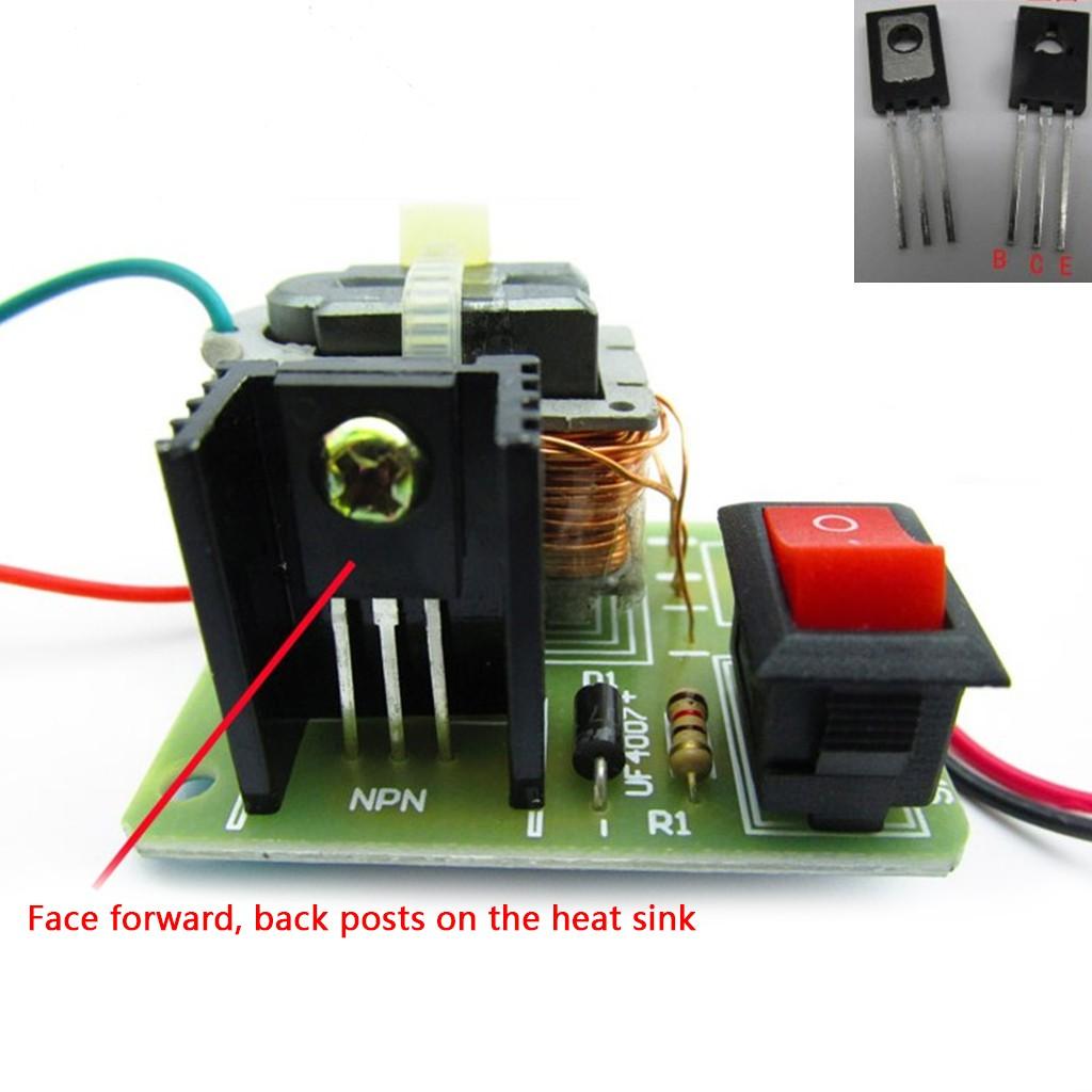 DC High Voltage Arc Ignition Generator Inverter Boost Transformer 3 7V DIY  Kit