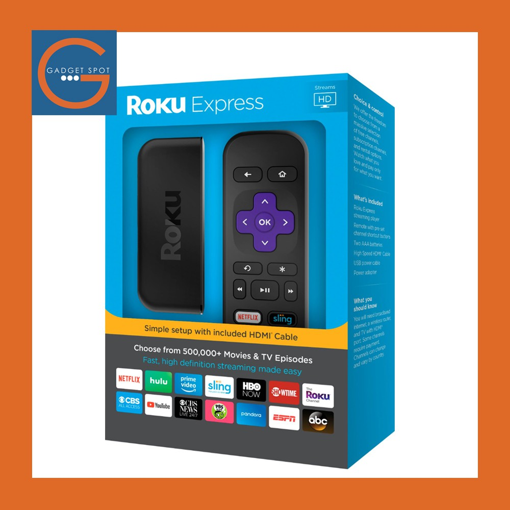 Roku Express Easy High Definition HD Streaming Media Device