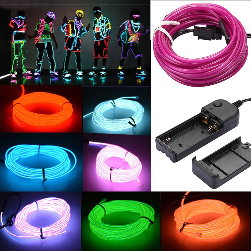 3m flexible led light glow el wire string strip rope tube car3m flexible led light glow el wire string strip rope tube car christmas party decor shopee philippines