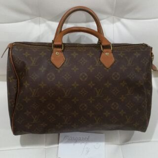 bf1286ced Louis Vuitton Rare French Company Speedy 35 in Monogram | Shopee Philippines