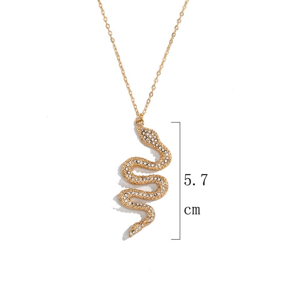 Women Snake Dangle Necklace Pendant Bohemia Link Chain Pendant Necklace