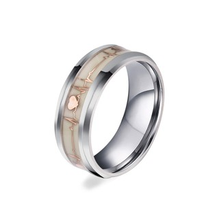 a24216260f Luminous Ring Glowing In Dark Couple Rings Stainless Steel | Shopee  Philippines