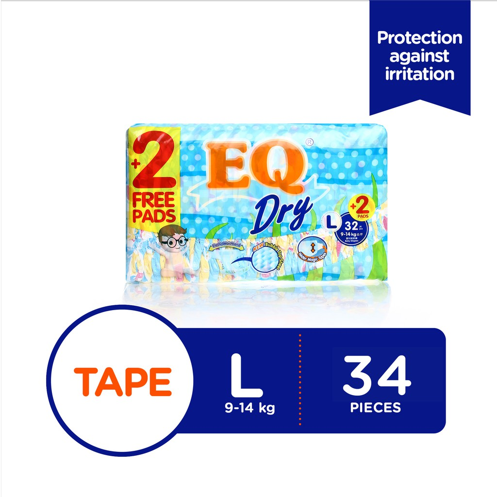 Pampers Baby Dry Diaper Large 61 Free 7s 3 Packs Shopee Goon Excellent Tape L32 Philippines