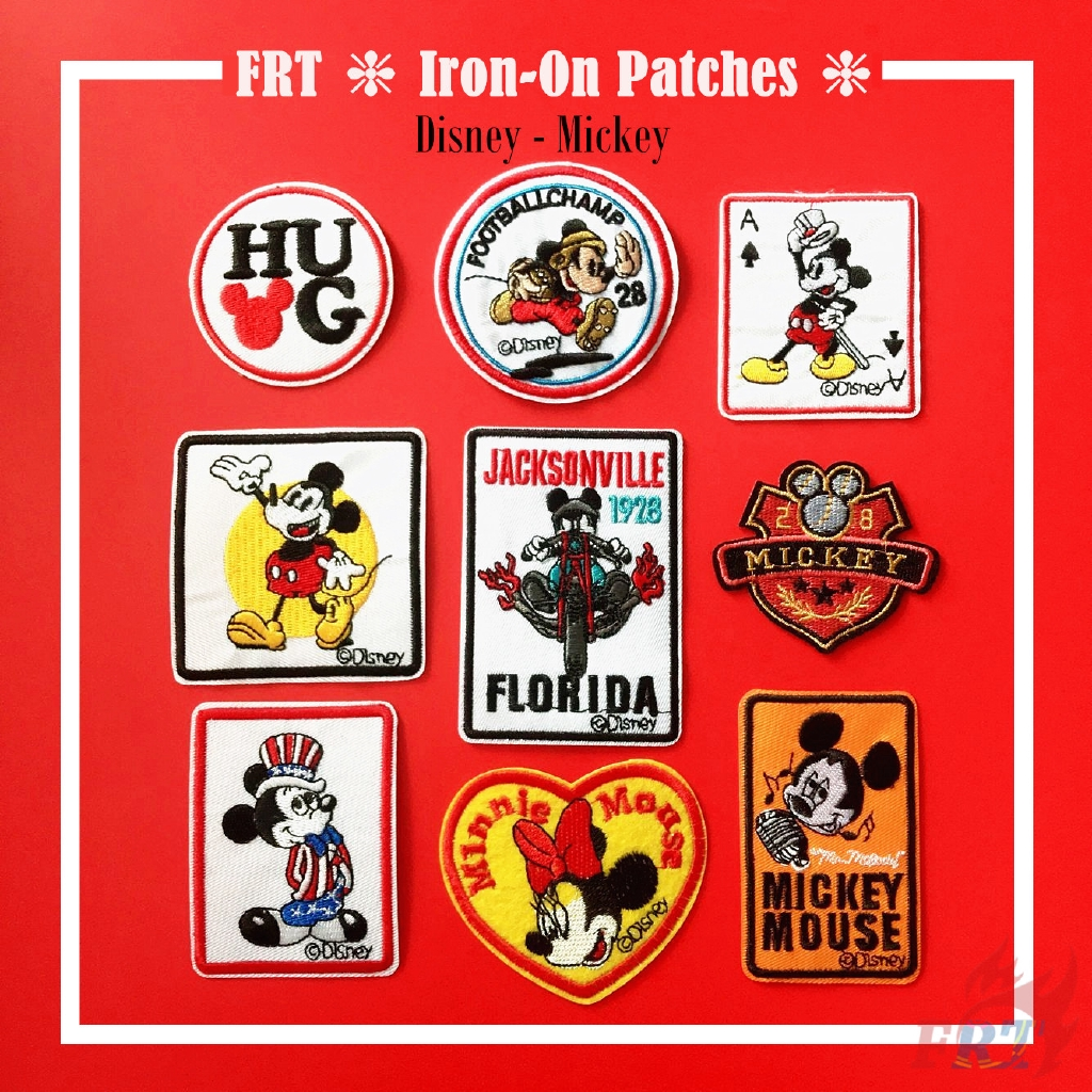 Disney Mickey Mouse Iron On Patch Disney Emblem Mickey Mouse Sew On Badge