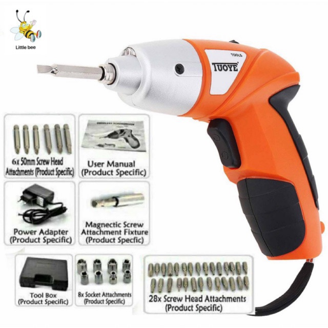 CODTUOYE Cordless Rechargeable Handy Drill Screwdriver 45pcs