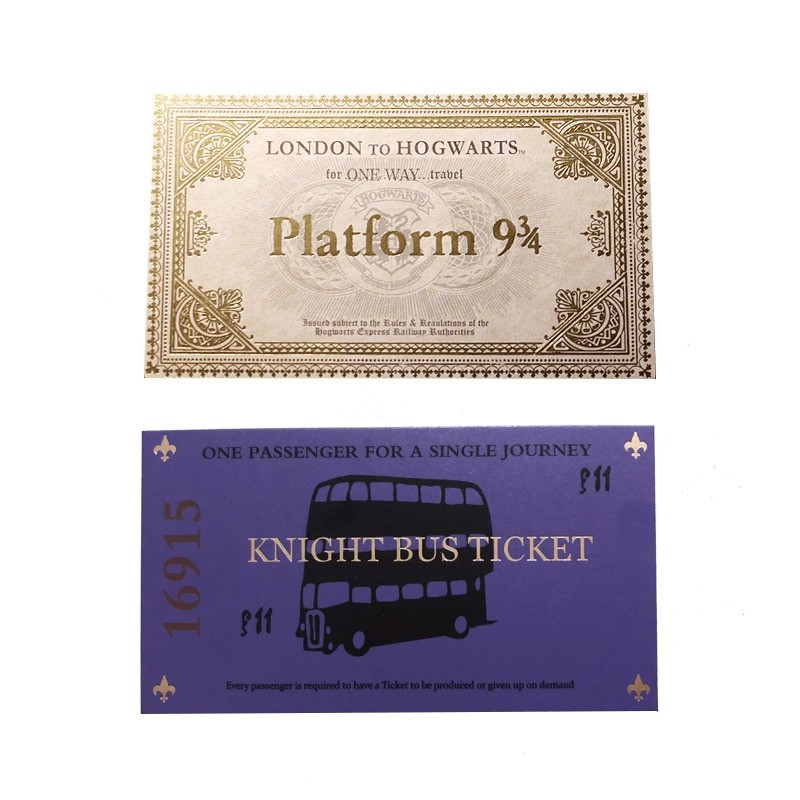 image about Hogwarts Express Ticket Printable identify Fastened of Harry Potter System 9 3/4 and Knight Bus Tickets