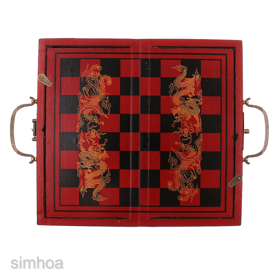Folding Antique Chinese Chess Board