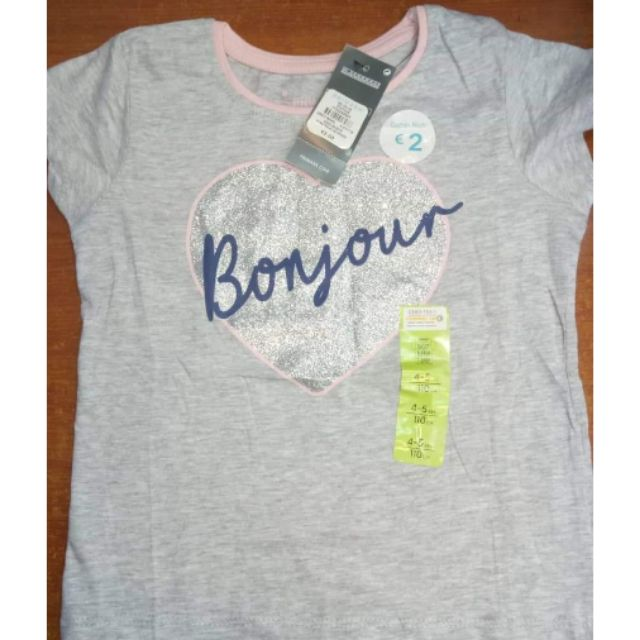 Primark T Shirts Tops Girl 2 8y Shopee Philippines