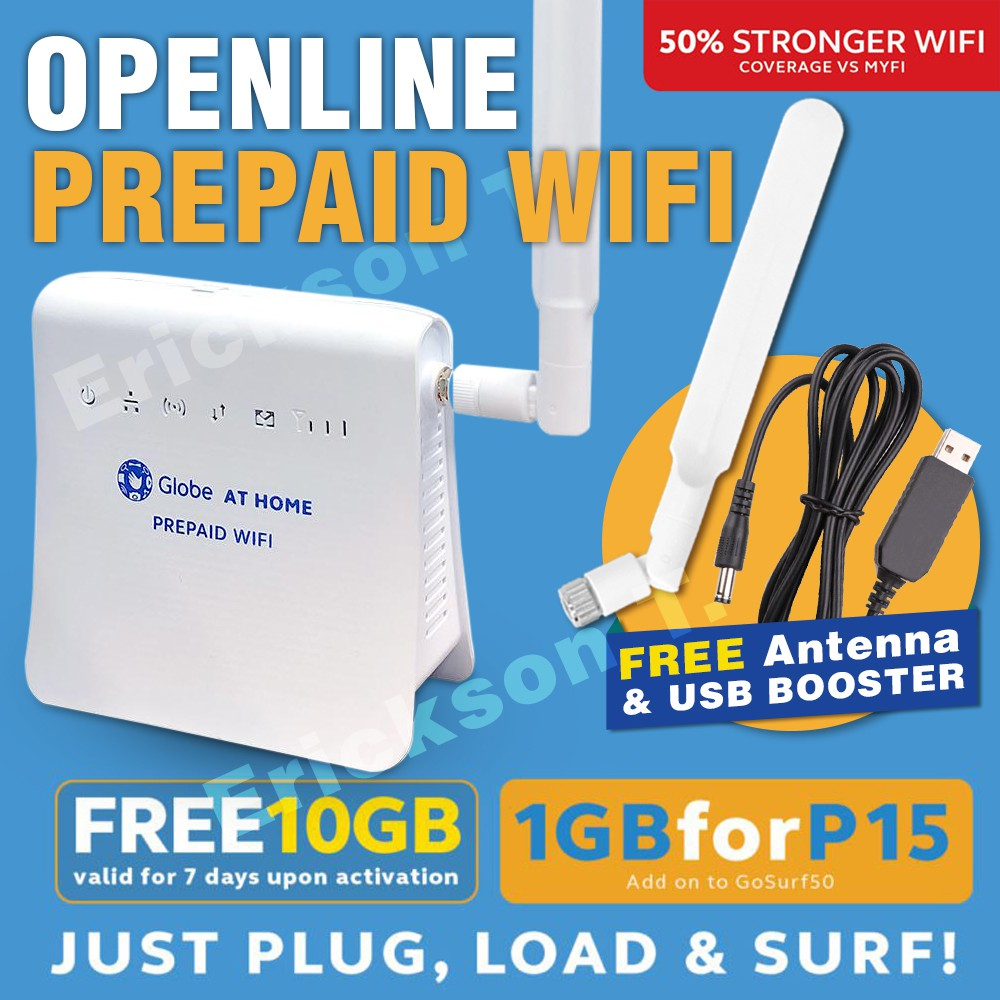 Gobe at Home Openline Modem Prepaid Wifi with Home Surf Sim FREE Indoor  Antenna and USB booster