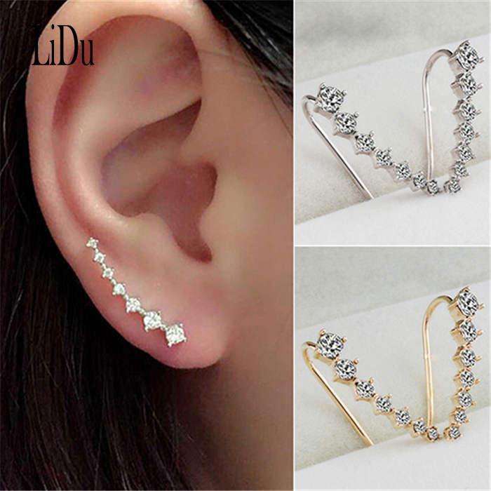 c797c236c3f1a LIDU Lines Earrings Ear Hook Clip Stud