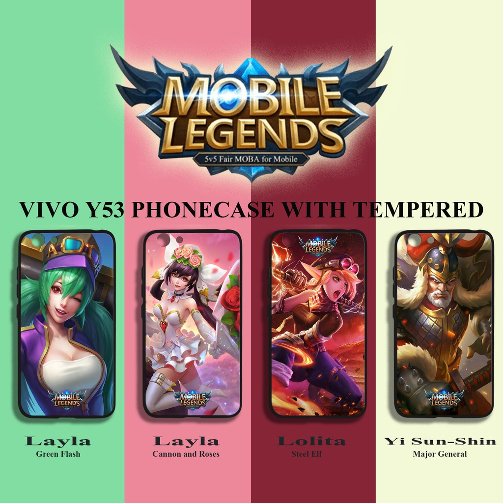 best website 5ddb4 3f882 MOBILE LEGENDS Vivo Y53 phonecase with tempered 2in1(Zerone)