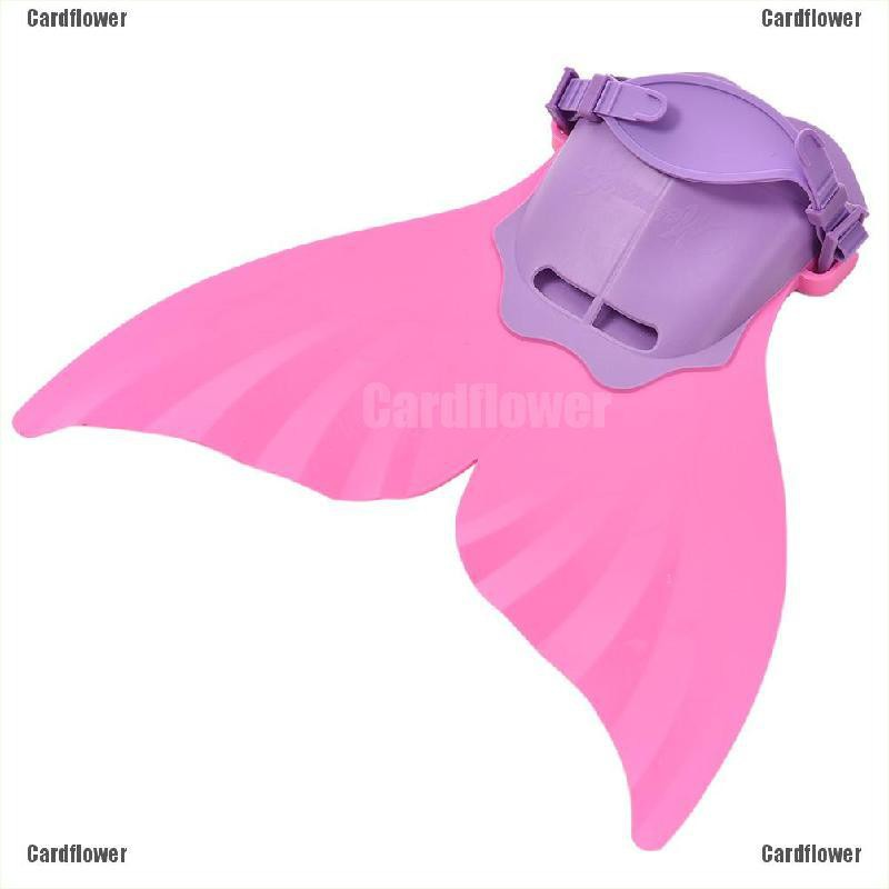 Children Pink Kids Swimmable Mermaid Tail Mono Fin Costume Tails Cosplay Monofin