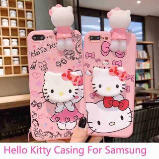 Hello Kitty Soft Tpu Case For Samsung J2 Prime A50 A30 A20 J4 J5 J6 Prime J7 2016 A7 2018 A71 A51 Holder Lanyard Shopee Philippines