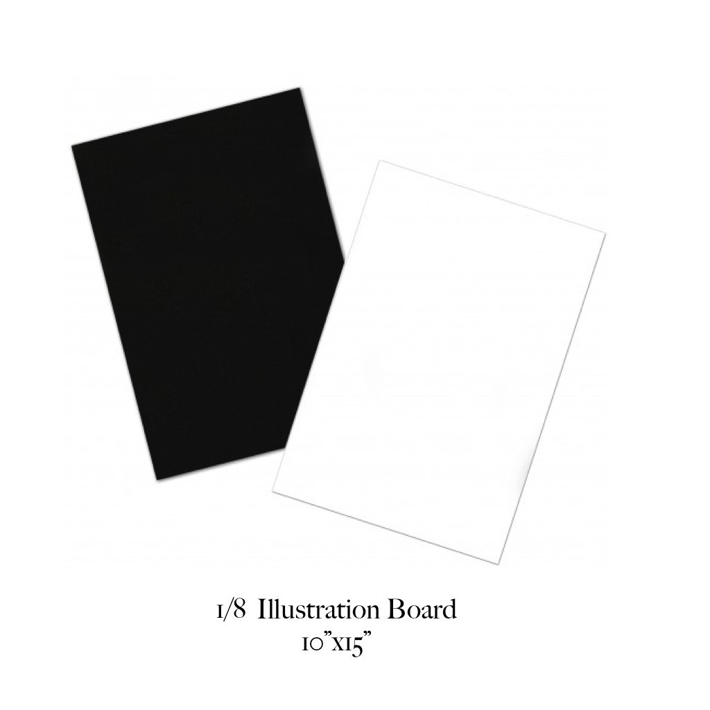 (A1073) 50 Pcs 1/8 Illustration Board 2-Ply 15x10 Inches School Supplies  Arts & Crafts Office Supply