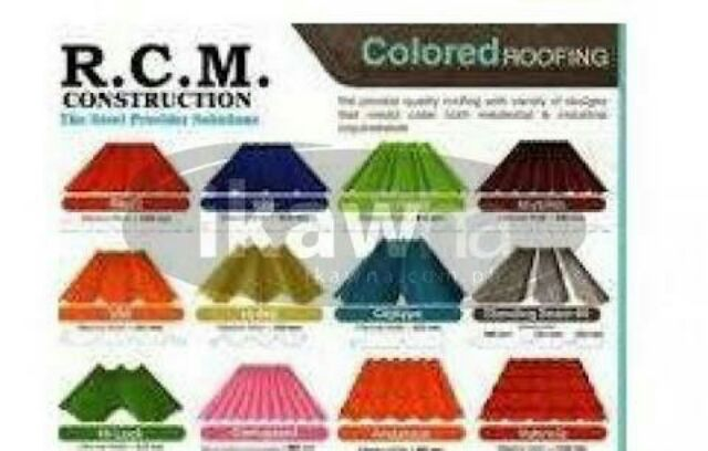 Colored Roofing Rib Type And Corrugated Tile Type Shopee Philippines