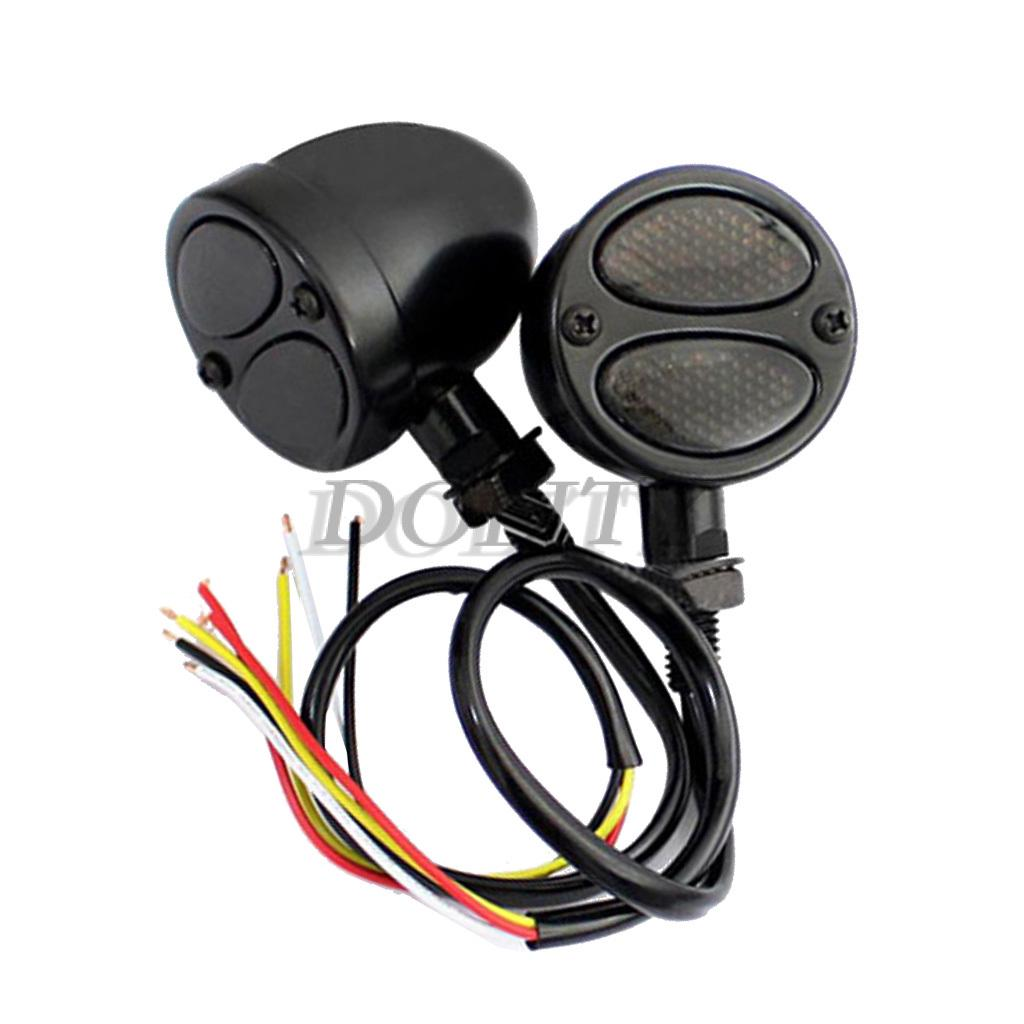 MagiDeal Motorcycle Highway Bar LED Turn Signal Driving Lights for