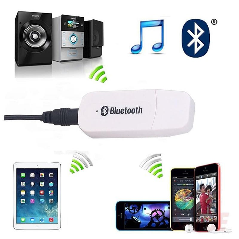 5V USB Wireless Bluetooth Audio Dongle Receiver Adapter For Car AUX Mobile Phone