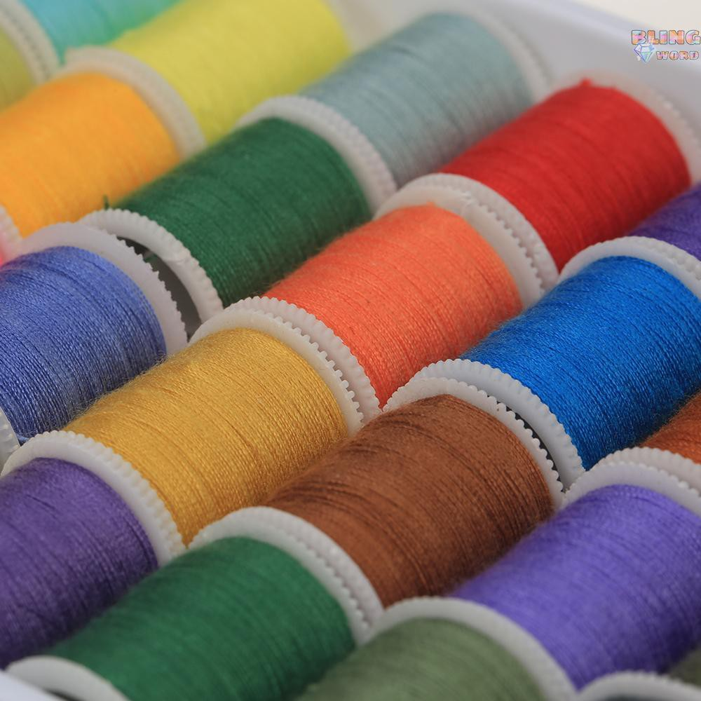 60pcs Metal Bobbin /& Thread Spool Set Mixed Colors for Mini Sewing Machine Multi-Color