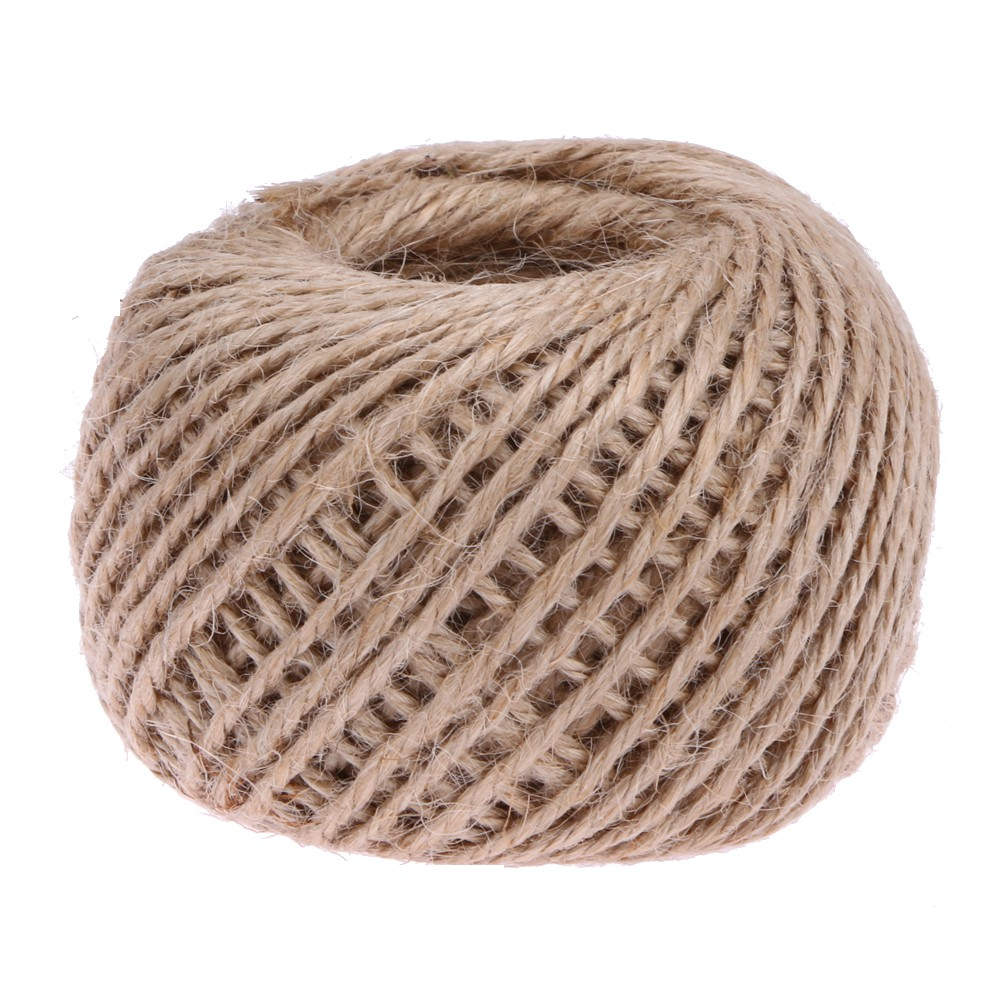 90M Natural Brown Jute Hemp Rope Twine String Cord Shank CraftStrings DIY Making