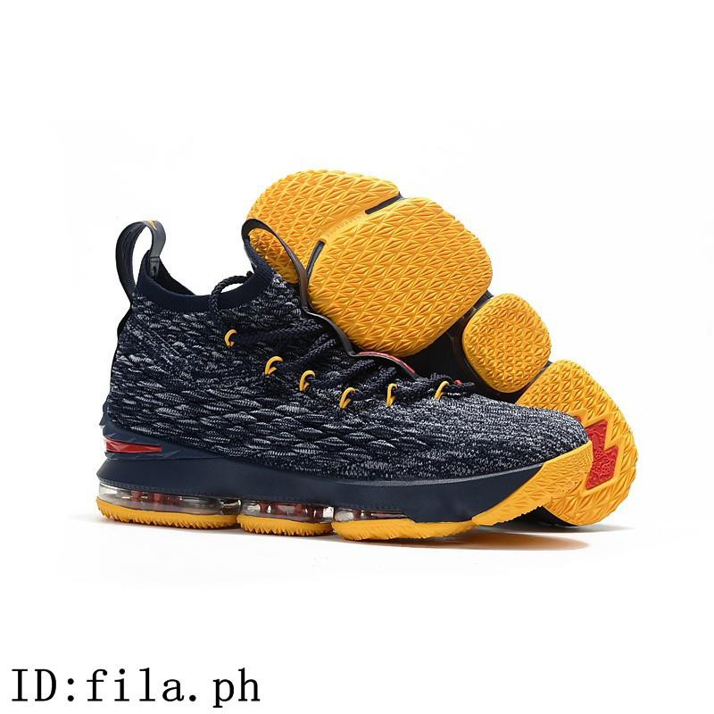 brand new 61f57 fbdcd Nike LeBron 15 Navy Blue Yellow Red