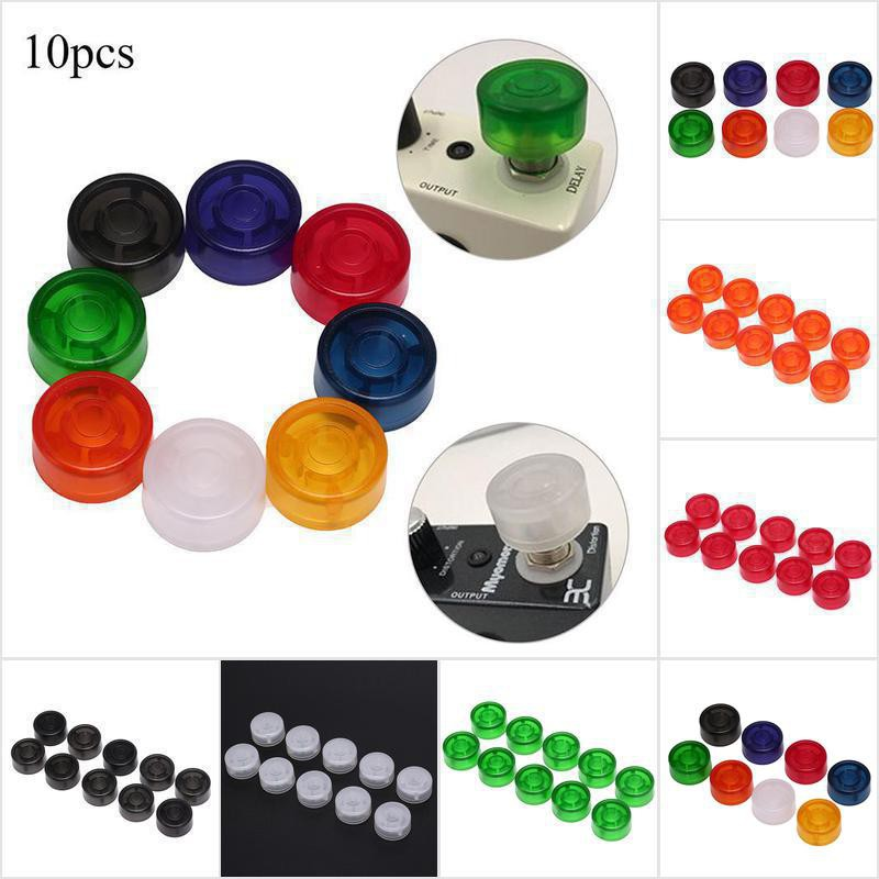 10 pcs Footswitch Topper Random Color Plastic Bumpers For Guitar Effect Pedal Sa