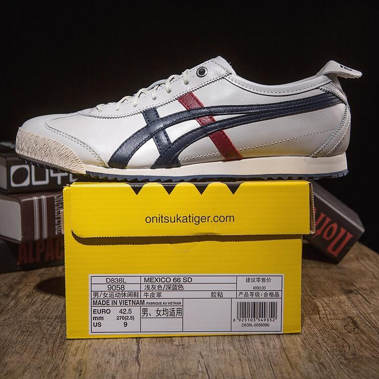 big sale 0817f 34675 Onitsuka Tiger men's women's leather casual shoes MEXICO 66 ...